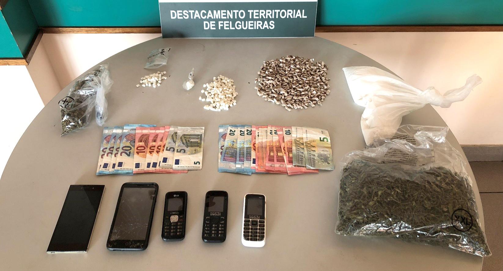 Seis homens detidos por tráfico de droga 1