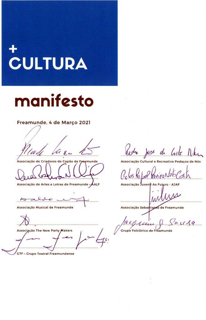 MANIFESTO Assinaturas