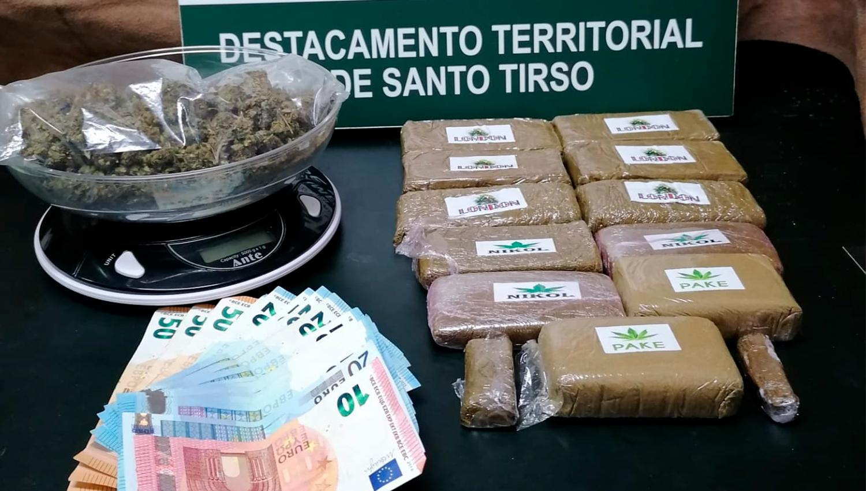Paços de Ferreira: Jovem de 22 detido por tráfico. Tinha mais de 2.200 doses de haxixe