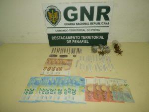 Homem detido em Penafiel por tráfico de droga