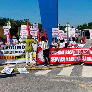 Manifestação no Hospital Padre Américo